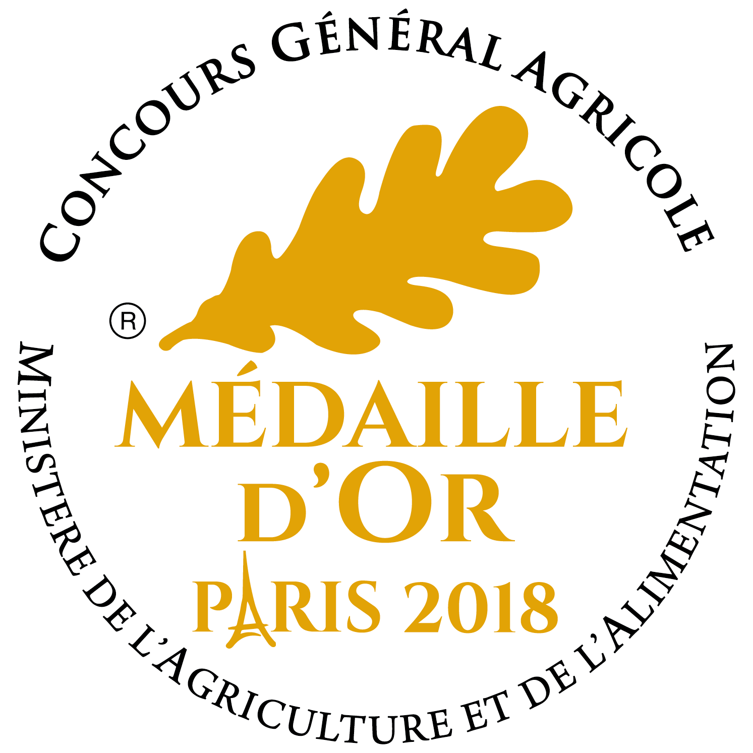 Medaille Or 2018